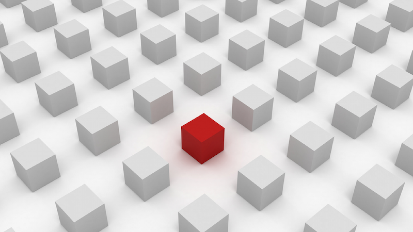 Red cube image